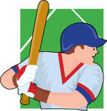 Baseball Batter. Baseball player getting ready to bat Royalty Free Stock Photography