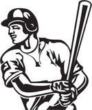 Baseball Batter. Line Art Illustration of a Baseball Batter royalty free illustration