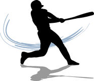Baseball Batter. Illustration of a baseball player swinging the bat vector illustration