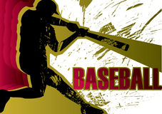 Baseball batter. Poster. Vector illustration Royalty Free Stock Photo