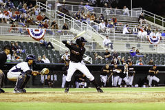 Baseball - Batter, Catcher and Umpire Royalty Free Stock Images