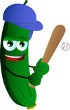 Baseball batter cucumber or pickle Stock Photography