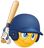 Baseball batter emoticon Stock Photo