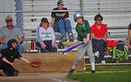 Baseball Batter hitting the ball royalty free stock images