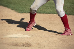 Baseball batter at home plate Royalty Free Stock Image