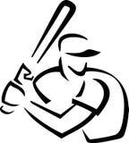 Baseball Batter Outline Royalty Free Stock Images