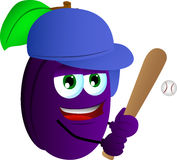 Baseball batter plum Stock Photography