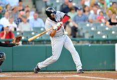 Baseball batter swing Royalty Free Stock Images