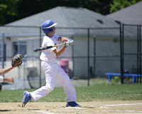 Baseball batter swinging Royalty Free Stock Photos