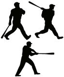 Baseball batters Stock Photo