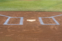 Baseball Batters Box Royalty Free Stock Photography