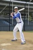 Baseball batting pose Stock Images