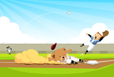 Baseball bear doing the homerun Royalty Free Stock Photo
