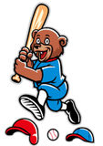 Baseball bear mascot Stock Photography