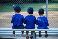 Baseball bench warmers Royalty Free Stock Photography
