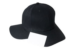 Baseball black cap and business card. Royalty Free Stock Images