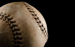 Baseball on black Stock Photography