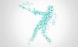 Baseball. Blue particles of a Baseball Player Royalty Free Stock Image