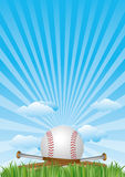 baseball with blue sky Royalty Free Stock Images