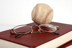 Baseball Books Stock Photo