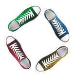 Baseball boots sneakers  different colors Royalty Free Stock Photos