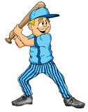 Baseball Boy. Baseball player holding a bat waiting for a pitch Stock Images
