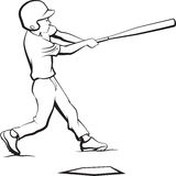Baseball Boy Batting Royalty Free Stock Photos