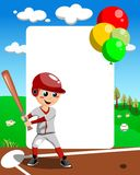 Baseball Boy Frame Royalty Free Stock Photo