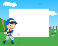 Baseball Boy in the Park Horizontal Frame Royalty Free Stock Photos