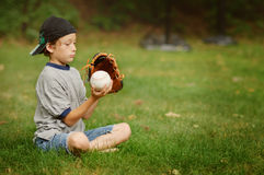 Baseball boy Royalty Free Stock Image