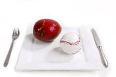 Baseball breakfast. Are you real fan of baseball Royalty Free Stock Images