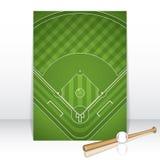 Baseball brochure. Sport vector illustration Stock Photo
