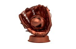 Baseball Bronze Trophy Stock Photos