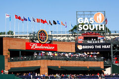Baseball Budweiser Pavillion Turner Field Atlanta Stock Photos