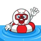 Baseball buoy mascot vector cartoon illustration vector illustration