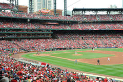 Baseball at Busch Stadium Royalty Free Stock Photography