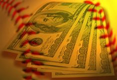 Baseball business. Composite image suggesting baseball business Royalty Free Stock Photo
