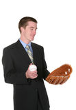 Baseball Business Man Stock Photo