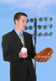 Baseball Business Man Royalty Free Stock Photos