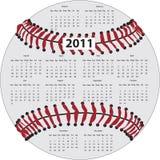 Baseball Calendar. 2011 Calendar in the shape of a baseball Royalty Free Stock Photography