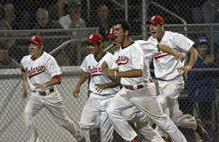 Baseball canada cup ontario celebration Stock Photo