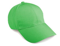 Baseball cap. Green baseball cap  on a white background Royalty Free Stock Images