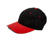 Baseball cap. With black and red colors Stock Photography