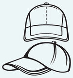 Baseball cap. Isolated on blue batskground Stock Images