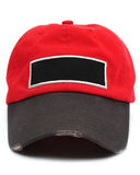 Baseball cap with blank label Stock Photography