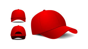 Baseball cap. Front, left, back view. Vector illustration on white background Royalty Free Stock Images