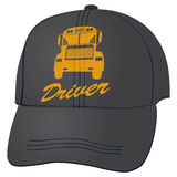 Baseball cap for school bus driver Stock Photography