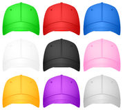 Baseball cap set Stock Photography