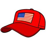 Baseball Cap with US Flag Royalty Free Stock Photography