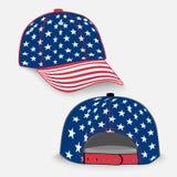 Baseball cap with USA flag realistic Stock Photos